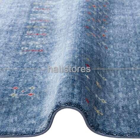 Otantik Kilim Desenli Zara 06 Mavi Hav ve Toz Vermeyen Özel Tezgah Halısı