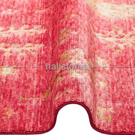 Otantik Kilim Desenli Zara 08 Kırmızı Hav ve Toz Vermeyen Özel Tezgah Halısı