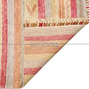 Otantik Kilim Desenli Zara 09 Renkli Hav ve Toz Vermeyen Özel Tezgah Halısı - Thumbnail