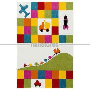 Renkli Çocuk Halısı Kids 16 - Thumbnail