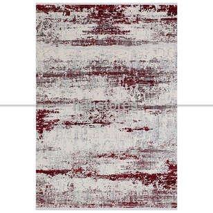 Renkli Halı Trend 15463a Krem Kırmızı - Thumbnail