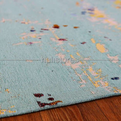 Renkli Pamuklu Kaymaz Halı Lilya 2905