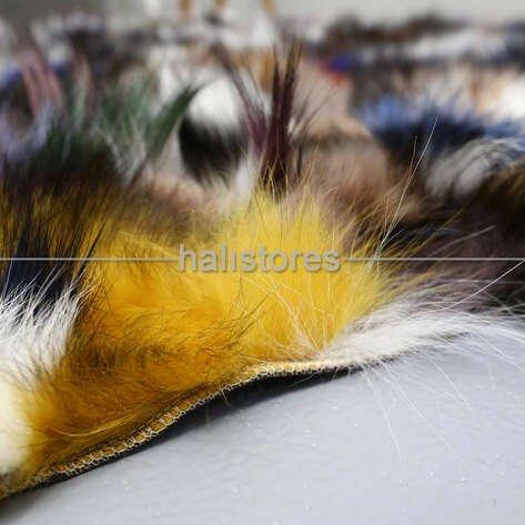 Renkli Tilki Kürk Halı