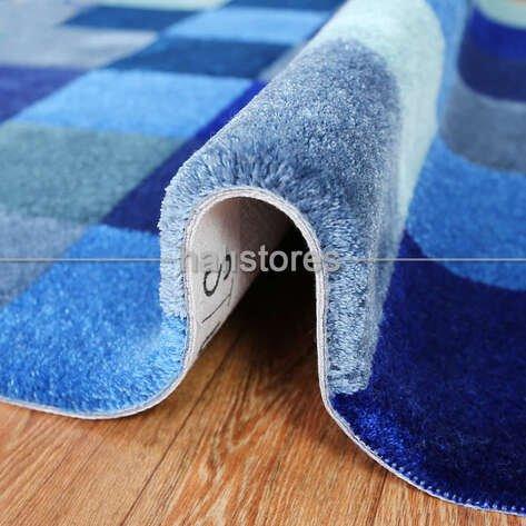 Royal Halı Custom Design Mavi Kutucuklar Halı
