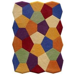 Royal Halı Custom Design Renkli Petek Halı - Thumbnail
