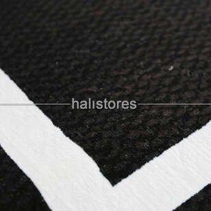 Siyah-Beyaz Çerçeveli Modern Halı Anka - Thumbnail