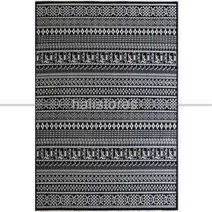 Liviadora - Siyah Beyaz Yün Kilim Halı Hattuşa Ht-05 Siyah (1)