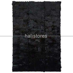 Siyah Kuzu Kürk Halı Toskana - Thumbnail