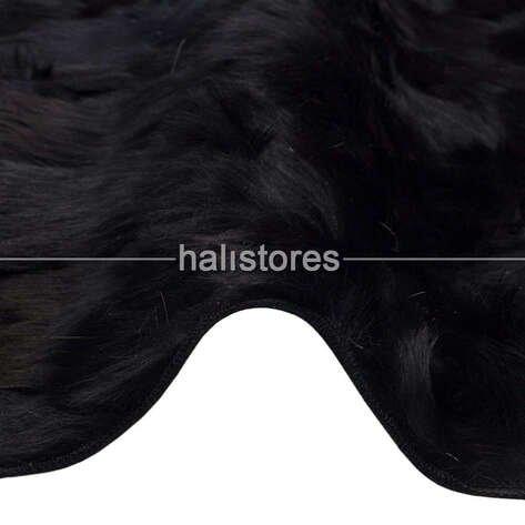 Siyah Kuzu Kürk Halı Toskana