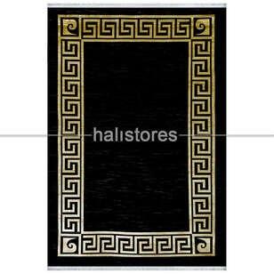 Pierre Cardin Halı - Siyah-Sarı Çerçeveli Halı Pierre Cardin Monet MT24E (1)