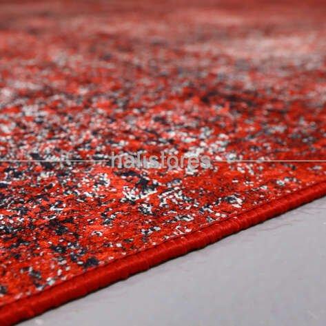 Soyut Desenli Kırmızı Halı Zen 1848