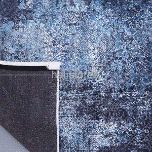 Soyut Desenli Lacivert Halı Zen 1845 - Thumbnail