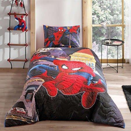Taç Lisanslı Tek Kişilik 4 Mevsim Set Spiderman
