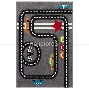 Trafik Desenli Çocuk Halıları Gri Kids 15 - Thumbnail