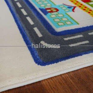 Trafik Desenli Çocuk Halıları Gri Kids 933 - Thumbnail