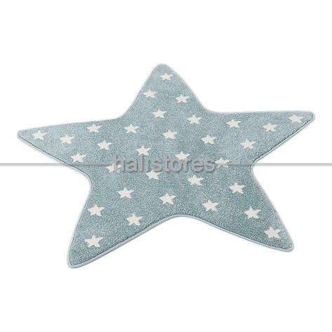 Yıldız Desenli Mavi Bebek ve Çocuk Halısı