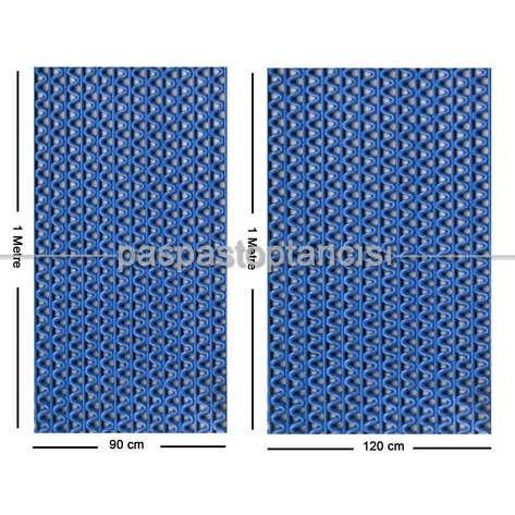Z Mat Islak Zemin Paspası Eko 4 mm Mavi